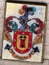 Heraldry PIN metallic del last name : MORENO