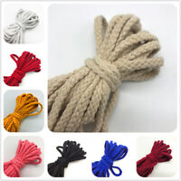 5yds 6mm Cotton Rope Craft Decorative Twisted Cord Rope For Handmade Decoration