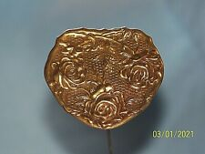 Vintage Brass Heart With Roses Hat Pins Stick Pins