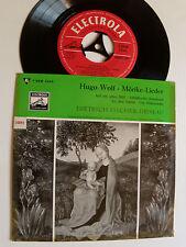 DIETRICH FISCHER-DIESKAU & G MOORE: HUGO WOLF Moricke lieder EP ELECTROLA 50093