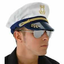 Yacht Captain Hat Adult Navy Costume Accessory One Size
