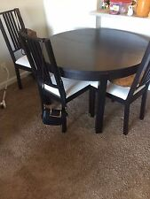 Ikea extendable dining table - 4 chairs free!