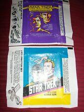 New ListingStar Trek Tv and Movie Gum card Wrappers Non Sport Wax Vintage