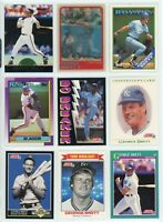 KANSAS CITY ROYALS HOF/STAR Baseball Card Lot - 34 Cards - GEORGE BRETT, JACKSON