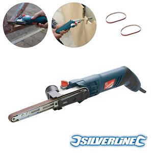 Silverline Silverstorm Power File Belt Sander With 2 Sanding Belts 13mm x 457mm