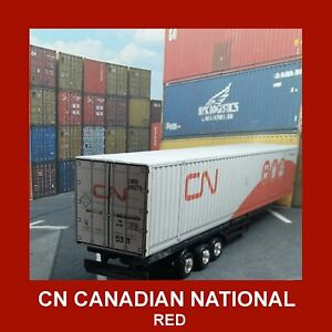 HO Gauge CN Intermodal Model Shipping Containers Card Kits 45ft,48ft & 53ft x 5