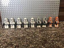 LEGO Star Wars: Clone Trooper Minifigure Lot of  9 Phase 1 Clones