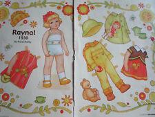 Vtg Karen Reilly Raynal 1930 Magazine Paper Doll Uncut