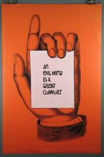 An Evil Mind is a Great Comfort, Rare Vintage Poster c. 1970