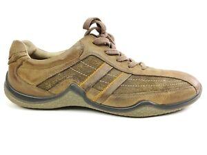 Ecco Cruiser Tie Mineral Stone Size 44 US 10-10.5 Brown Casual Sneaker