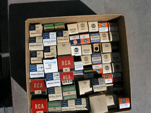 LOT of TUBES WESTERN ELECTRIC SYLVANIA MILITARY RCA GE