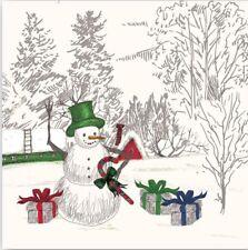4 papel de Almuerzo Servilletas Para Decoupage Mesa de fiesta Vintage Santa y reno