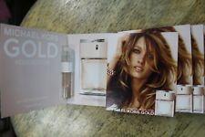 Lot of 5 Michael Kors Gold EDP Eau De Parfum Spray New Vials On Card .05 oz ea