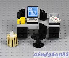 LEGO - Office Desk w/ Swivel Chair Coffee Mug Waste Basket Desktop Computer Town