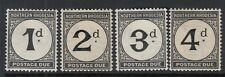 NORTHERN RHODESIA SGD1/4 1929 POSTAGE DUE SET - mounted mint