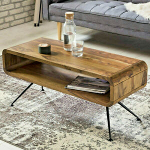 Indian Handmade Solid Wood Center Coffee Table Valiant For Indoor Office Use