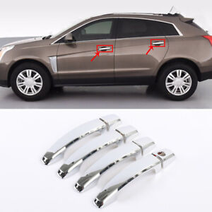 Fit for Cadillac SRX 2010-2016 Chrome ABS Exterior Side Door Handle Cover Trim