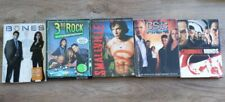 Lot of 5 Assorted Tv shows full seasons of bones Smallville untested estate sale