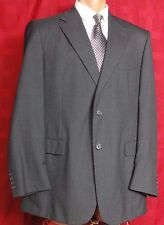 Men's Stafford Gray Wool 2 Button Suit Size 44L Pants 38W x 30L