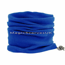 Blue Thermal Polar Fleece Neck Warmer Tube Snood Scarf Motorbike Warm Face Mask
