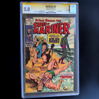 SUB-MARINER #18 💥 SIGNED STAN LEE, UK EDITION PRICE VARIANT 💥 CGC 5.0 SS 1969