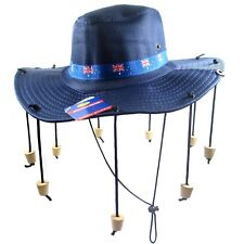 Aussie Australian Flag Swag Bushmans Hat With Corks Australia Day Fancy Dress