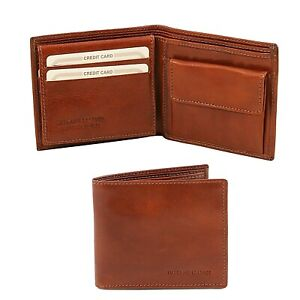 Tuscany Leather Exclusive 3 fold leather wallet for men