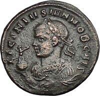 LICINIUS II Junior 321AD Aquileia CAPTIVES Vexillum Ancient Roman Coin i49822
