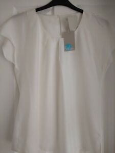 BODEN RAVELLO TOP BLOUSE SILK MIX IVORY, CREAM. UK 20, EUR 46-48. BNWT W0032 FAB