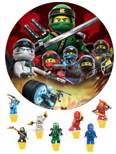 Eßbar Lego Ninjago Tortenaufleger NEU Party Deko Tortendeko Geburtstagsdeko dvd
