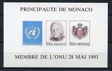 BLOC TIMBRE DE MONACO NEUF  NON DENTELE N° 62a ** COTE 220 € O.N.U.