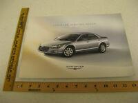 2005 05 Chrysler Sebring sedan Touring sales brochure dealer 23 pages BR108