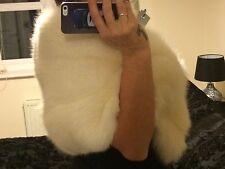 Arctic Fox Fur stole,wrap,scarf-wedding-bridal, 10-12-14