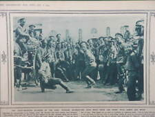 1914 RUSSIAN TROOPS DANCING; RUSSIAN FRONT MAPS POLAND & WARSAW WWI WW1