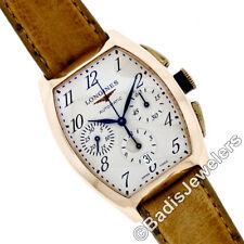 Men's Longines Evidenza 18K Rose Gold Automatic Chronograph Watch L2.643.8