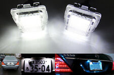 2x CANBUS LED License Plate Light for Mercedes W221 S-Class S400 S550 S63 AMG CL