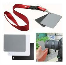 3in1 18% Digital Photography Exposure Color Balance Card Set Black/White/Gray