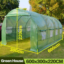 Garden Greenhouse Outdoor Plant Cover PE Plastic Roll-up Zipper Durable Shed