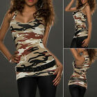 2017 Womens Ladies CAMO Vest Top Sleeveless Blouse Casual Tank Tops T-Shirt