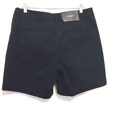 Liz Claiborne Women's JACKIE Navy Casual Shorts Flat Front Stretch Size 12 New