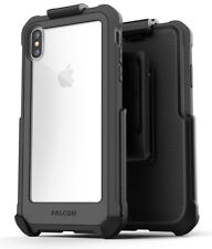 iPhone XS Max Belt Clip Clear Case with Holster, Protective Cover (Falcon) Grey