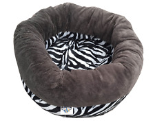 Donut Shaped Cat and Dog Bed Super Warm , Pet Cushion,  60cm diameter - Zebra