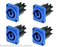 4X NEUTRIK Powercon AC Inlet BLUE Panel Mount Connectors NAC3MPA Power-In 20A