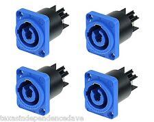 4X NEUTRIK Powercon AC Inlet BLUE Panel Mount Connectors NAC3MPA Power-In 20A