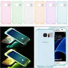 Handy Hülle LED Blitz für Samsung Galaxy Case Schale Tasche Cover Silikon TPU