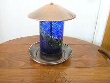 New listing Hand Blown Glass Illuninare Birdfeeder w Plated Copper -China