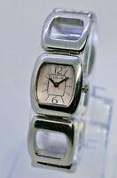 Ladies FOSSIL Silver Tone Stainless Steel Bracelet Watch, Pink Dial, ES2274