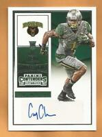 Corey Coleman RC 2016 Contenders Draft Picks Auto Football Card