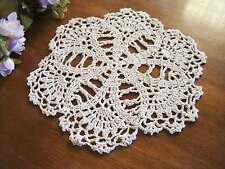 Chic Handmade Crochet Cotton Doily Beige