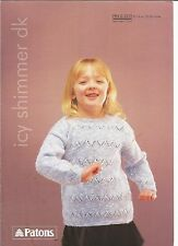 Lovely double knitting pattern for childs tunic 18-26 inch 1-11 years